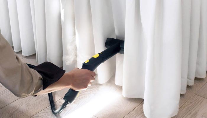 Dry clean your curtains