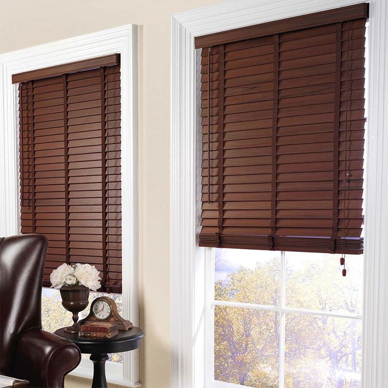 Natural wooden blinds