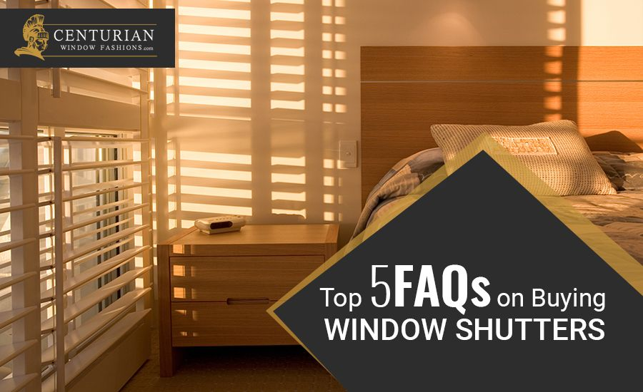 Top 5 FAQs on Buying Window Shutters