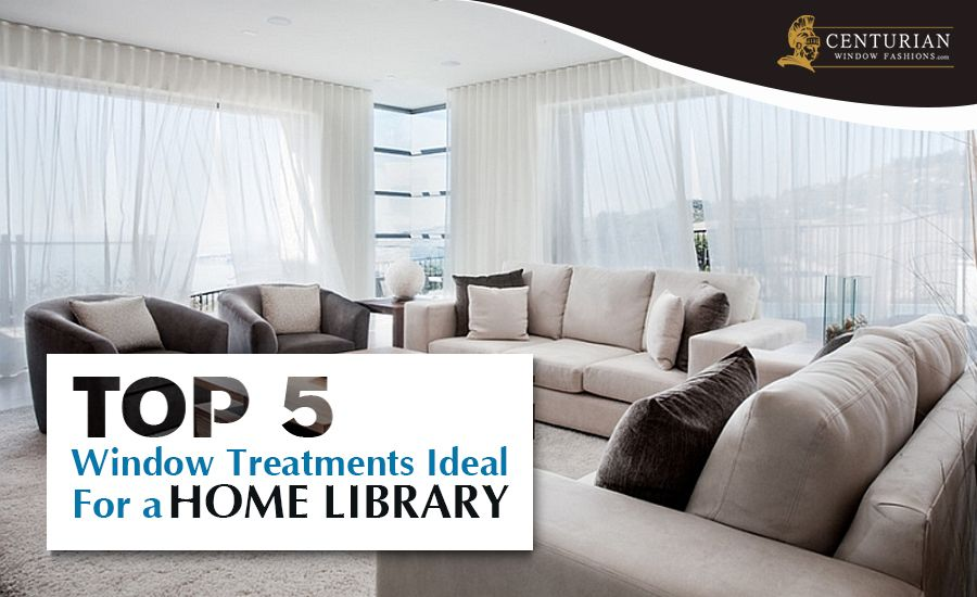 Top 5 Window Treatments Ideal for a Home Library_Feture