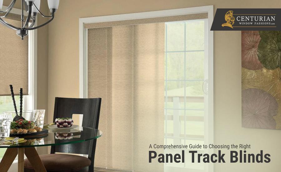 panel track shades