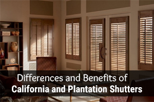 differences between california and plantation shutters