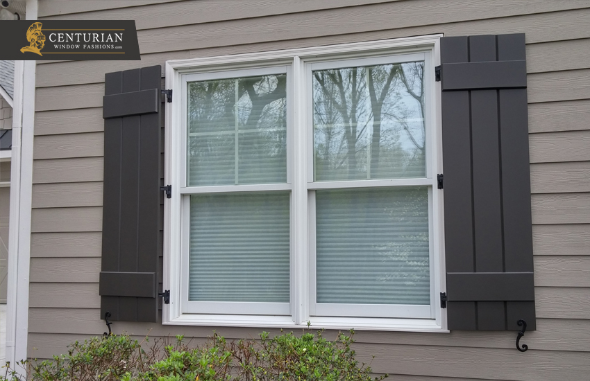 Exterior Window Shutters – Board and Batten