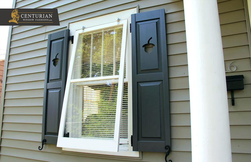 Exterior Window Shutters – Solid Raised Panel Shutters