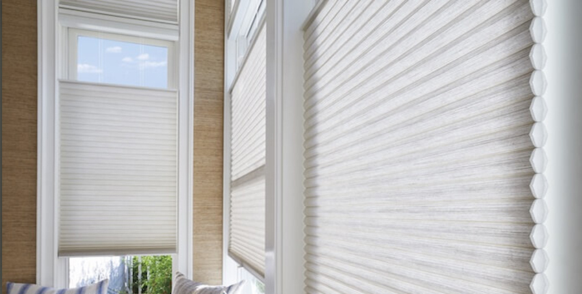 Honeycomb blinds for bedroom windows