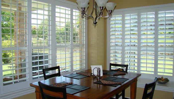 Plantation shutters for small space
