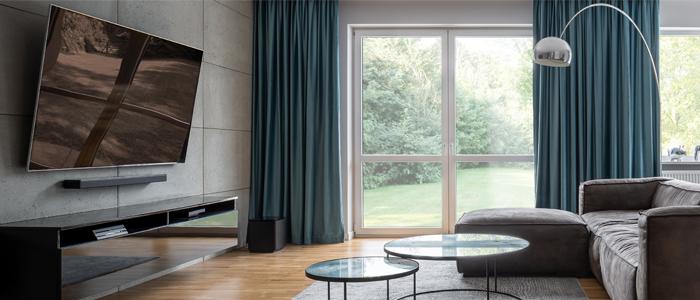 Long window curtain