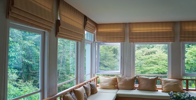 Roman Shades on Windows